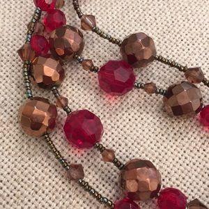 Lia Sophia Jewelry - Lia Sophia Cinnabar Necklace Red & Copper Colors